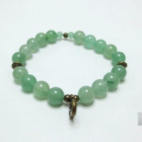 Bracelet aventurine et Ohm