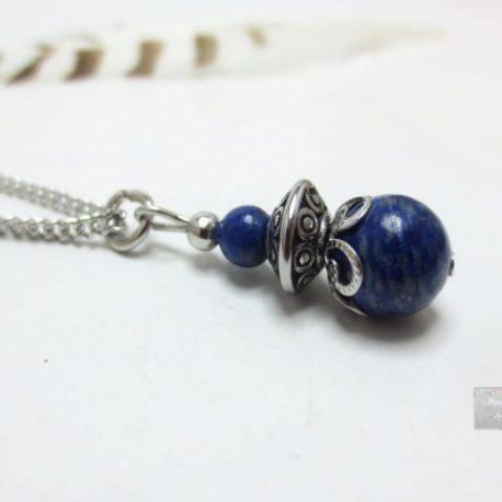 Collier Lapis Lazuli Acier