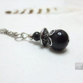 Collier Obsidienne Acier