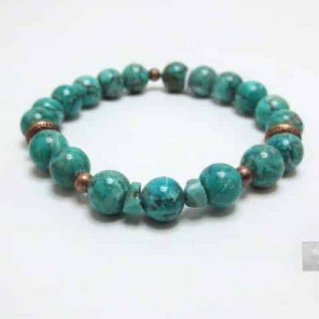 Bracelet Jaspe Africain Bleu