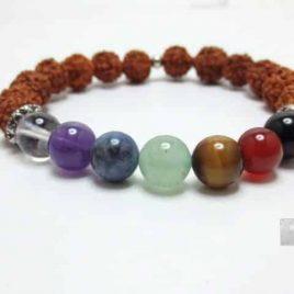Bracelet Chakras graines Rudraksha