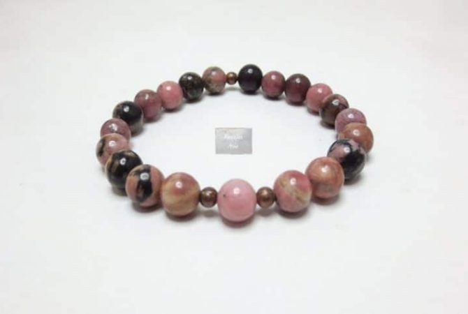 Bracelet pierre Rhodonite