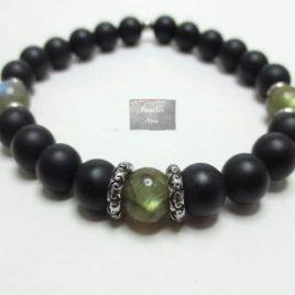 Bracelet Labradorite et Agate