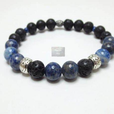 Bracelet Lave et Lapis Lazuli