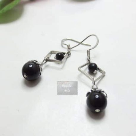 Boucles fines Obsidienne Art
