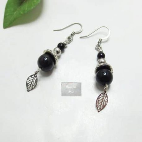 Boucles fines Obsidienne Leaf