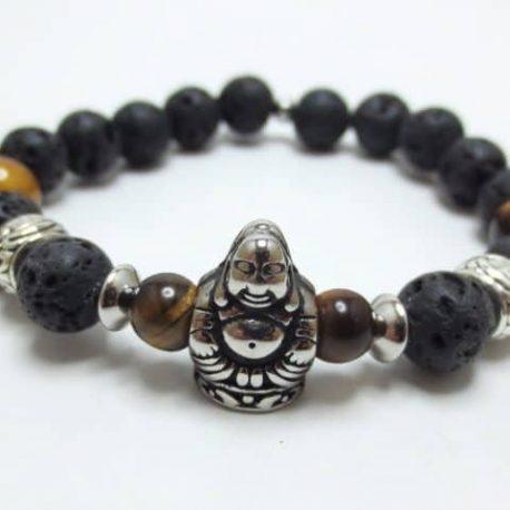 Bracelet œil de tigre Bouddha