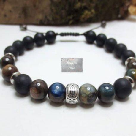 Bracelet Cyanite tressé
