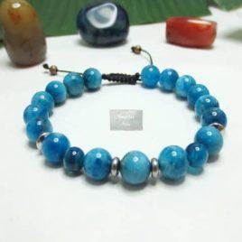 Bracelet Cyanite bleue tressé