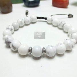 Bracelet macramé Howlite